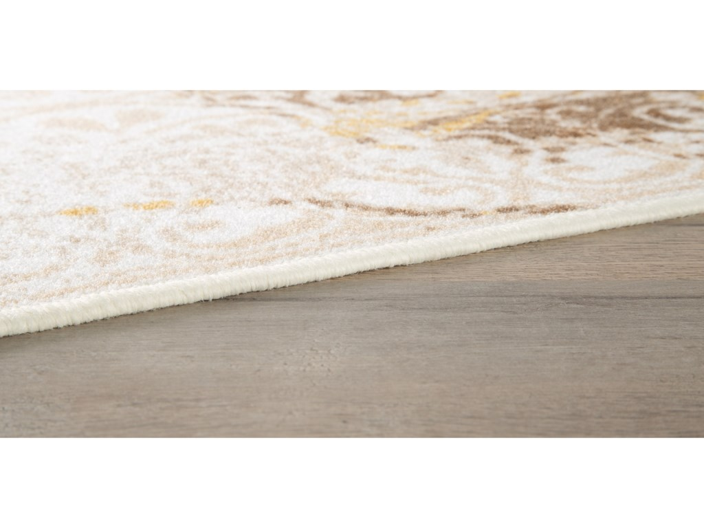Signature Design by Ashley Transitional Area RugsJariath Ivory/Brown Medium Rug