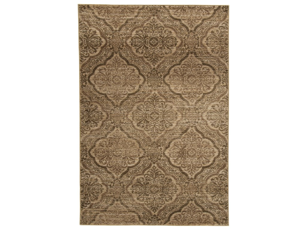Signature Design by Ashley Transitional Area RugsJette Tan/Brown Large Rug