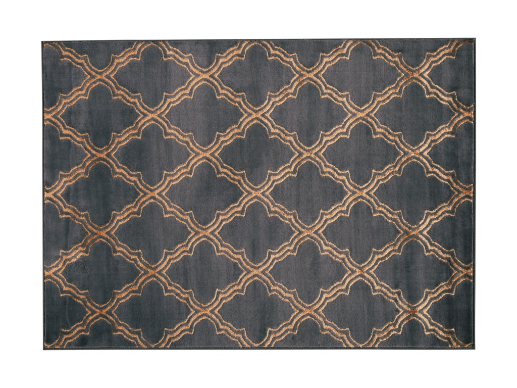 Signature Design by Ashley Transitional Area RugsNatalius Black/Gold Medium Rug