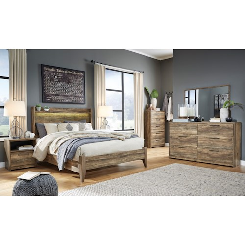 Signature Design by Ashley Rusthaven Queen Bedroom Group