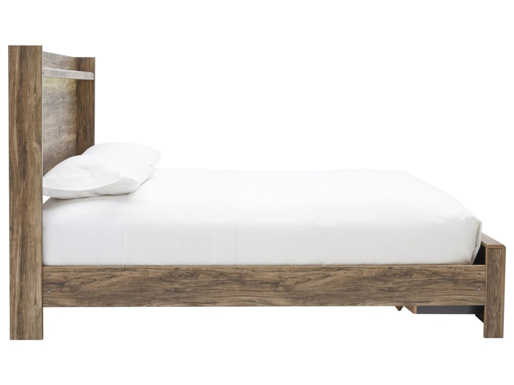 Signature Design by Ashley RusthavenQueen Bed with Footboard Drawers