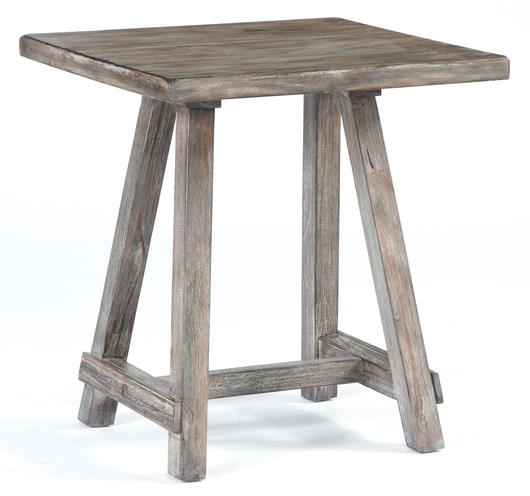 Signature Design By Ashley Vennilux Distressed Driftwood Finish Chairside End  Table   Furniture And ApplianceMart   End Tables