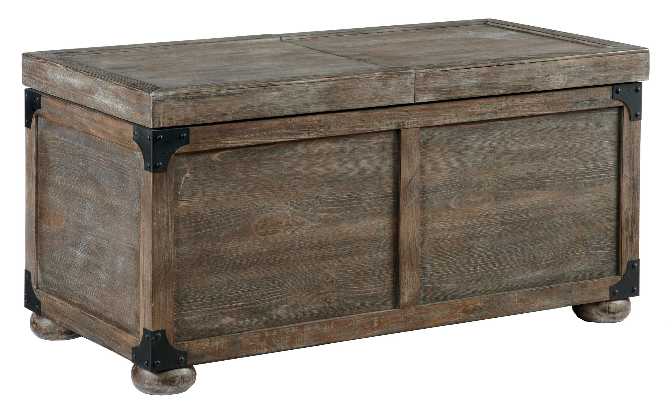 Signature Design By Ashley Vennilux Trunk Style Rustic Storage Cocktail  Table   Household Furniture   Cocktail/Coffee Tables
