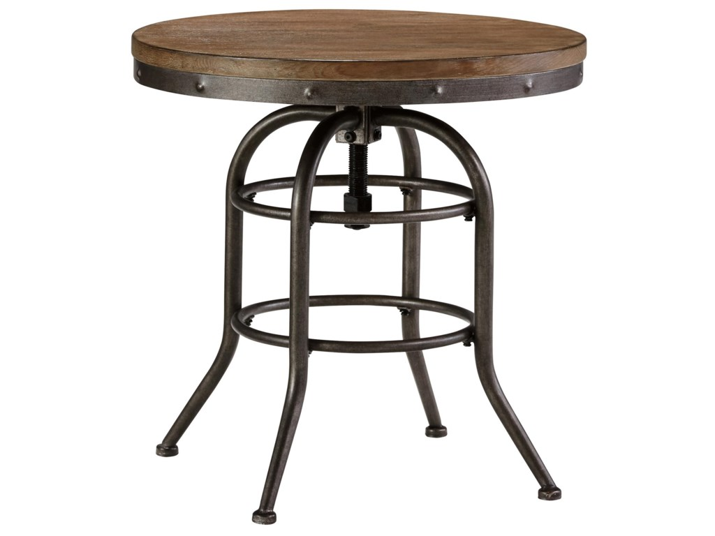 Vennilux Style Round End Table With Adjule Height By Signature Design Ashley