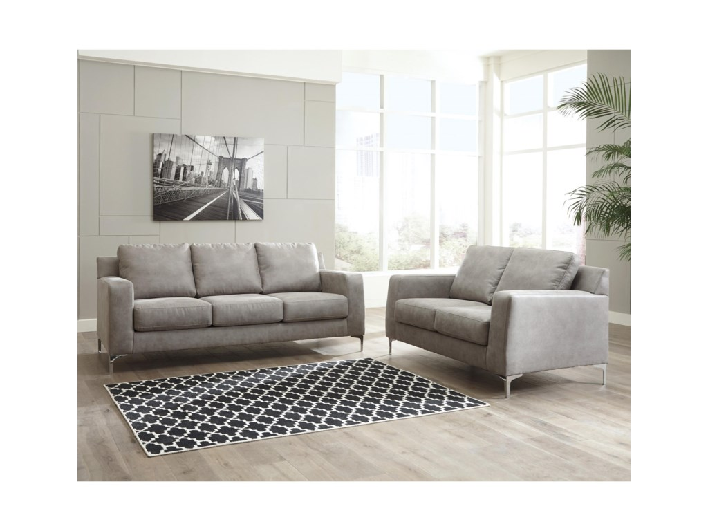 Ashley Signature Design Ryler Living Room Group | Dunk & Bright ...