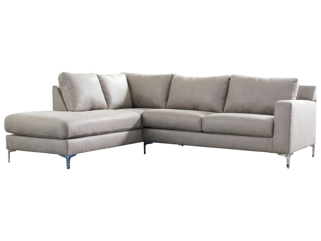 Signature Design by Ashley Ryler Contemporary 2-Piece Sectional with ...