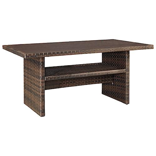Signature Design by Ashley Salceda Outdoor Rectangular Multi-Use Table
