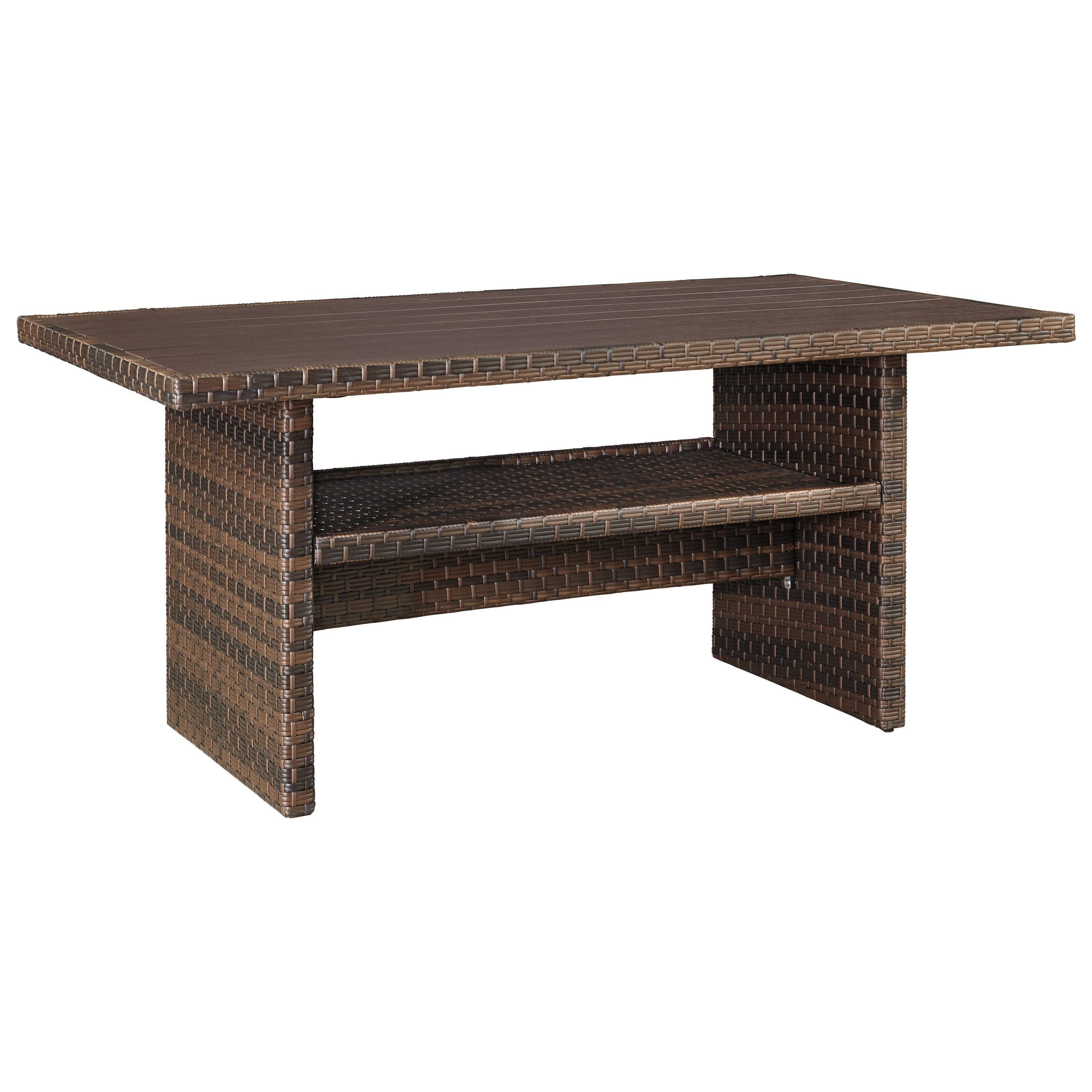 Signature Design By Ashley Salceda Outdoor Rectangular Multi Use Table