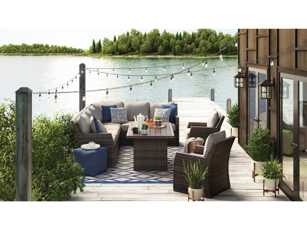 Signature Design by Ashley SalcedaOutdoor Rectangular Multi-Use Table