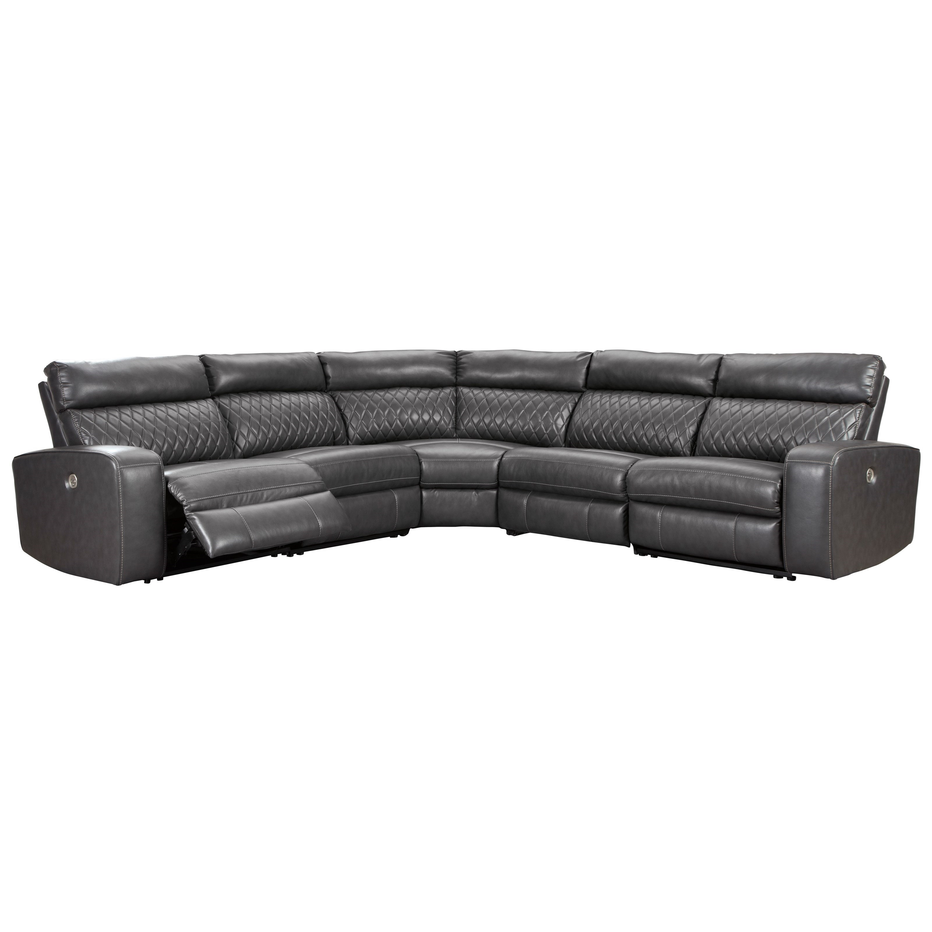Transitional Power Reclining Sectional Sofa with USB Port