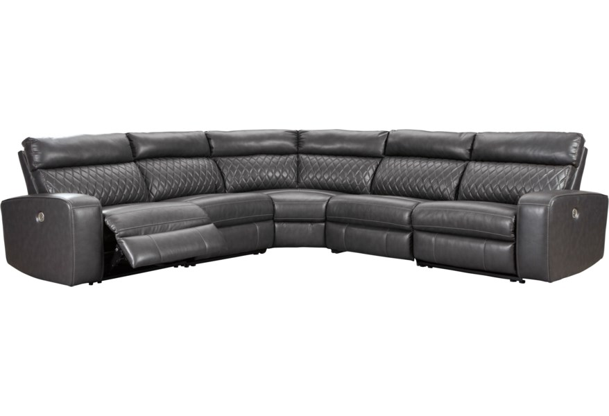 Samperstone Power Reclining Sectional Sofa
