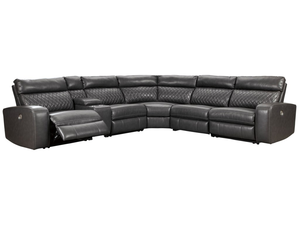 Del Sol AS SamperstonePower Reclining Sectional Sofa