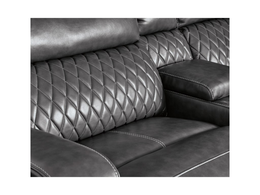 Signature Design by Ashley SamperstonePower Reclining Sectional Sofa
