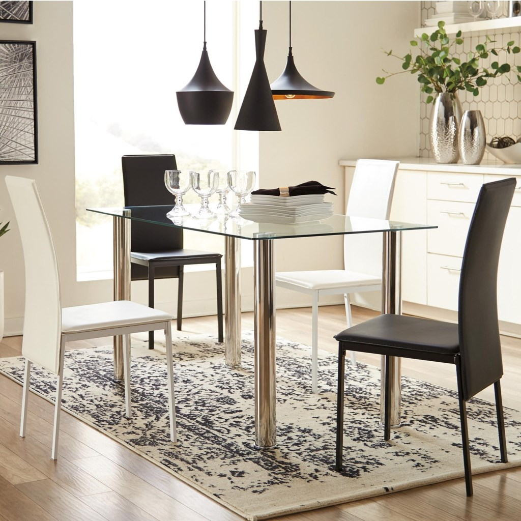 Ashley Signature Design Sariden Contemporary Five Piece Chair And