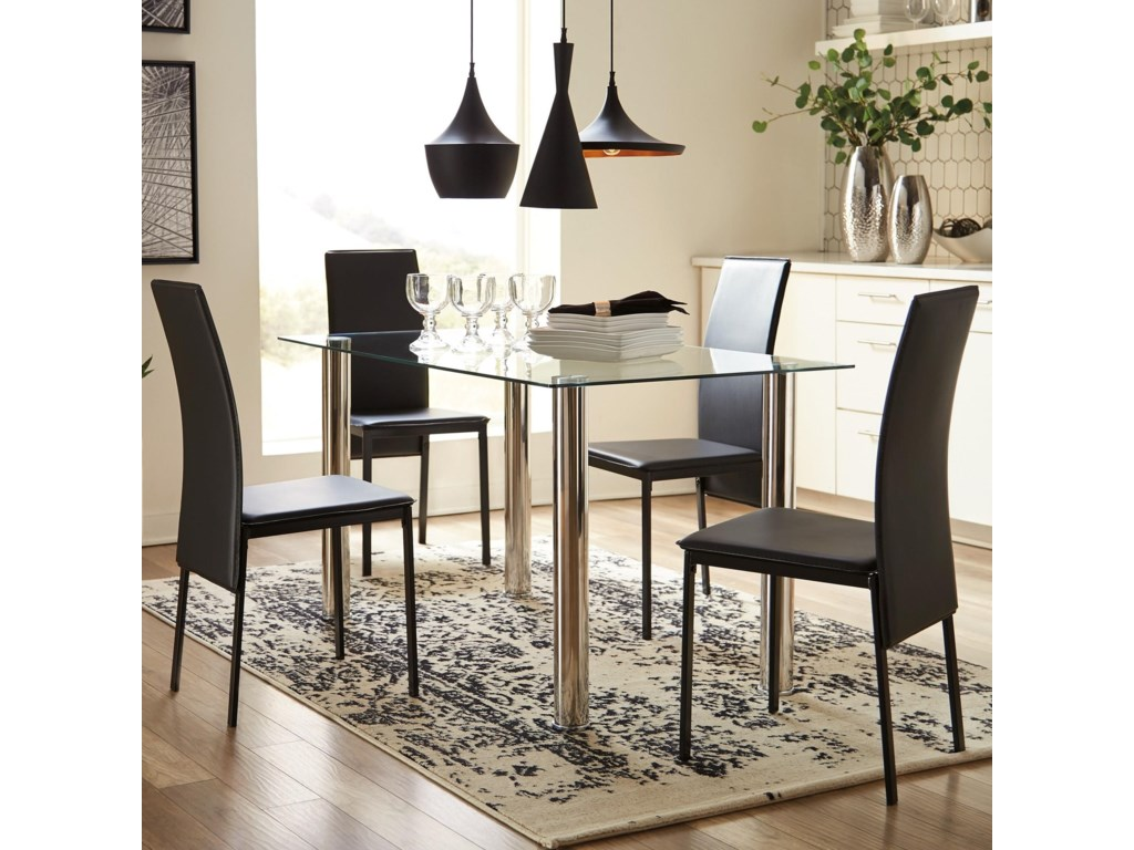 Signature Design by Ashley Sariden Contemporary Five Piece Chair and ...