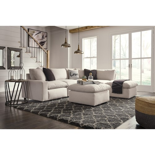 Signature Design by Ashley Savesto Casual Contemporary 6 Piece Sectional
