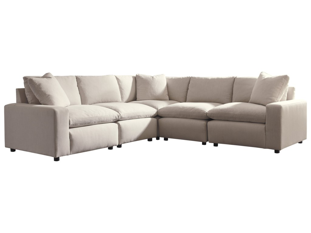 Savesto Casual Contemporary 5-Piece Sectional by Ashley Signature Design at  Dunk & Bright Furniture