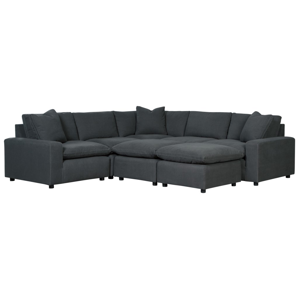Shay Casual Contemporary 7 Piece Sectional Set Ruby Gordon Home