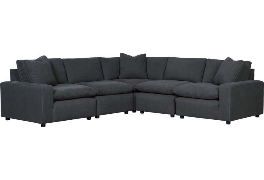 Savesto Casual Contemporary 5-Piece Sectional by Benchcraft at Virginia  Furniture Market