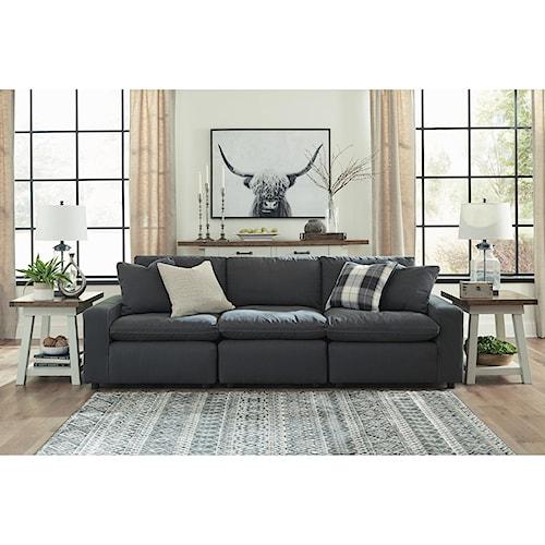 Signature Design by Ashley Savesto Casual Contemporary 3-Piece Sofa