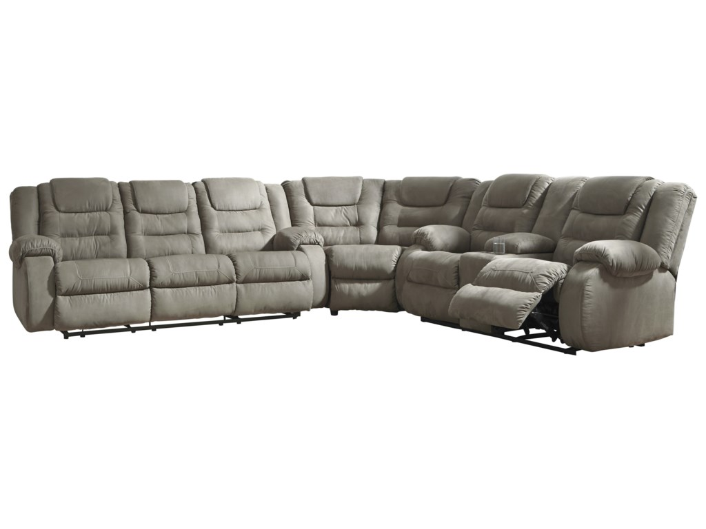 Signature Design by Ashley McCade3-Piece Reclining Sectional