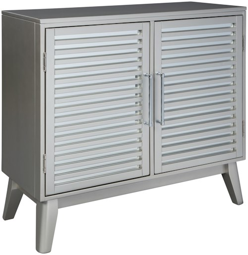 Signature Design by Ashley Senzernell Silver Accent Cabinet