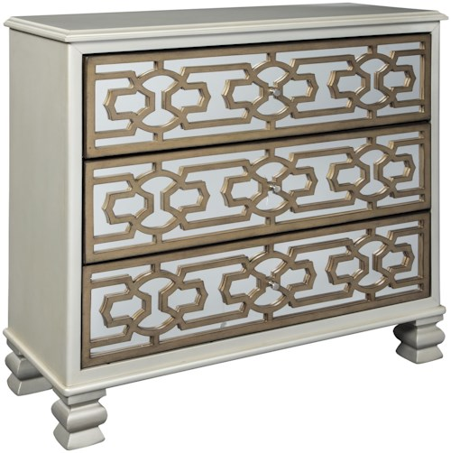 Signature Design by Ashley Senzernell 3 Drawer Accent Cabinet