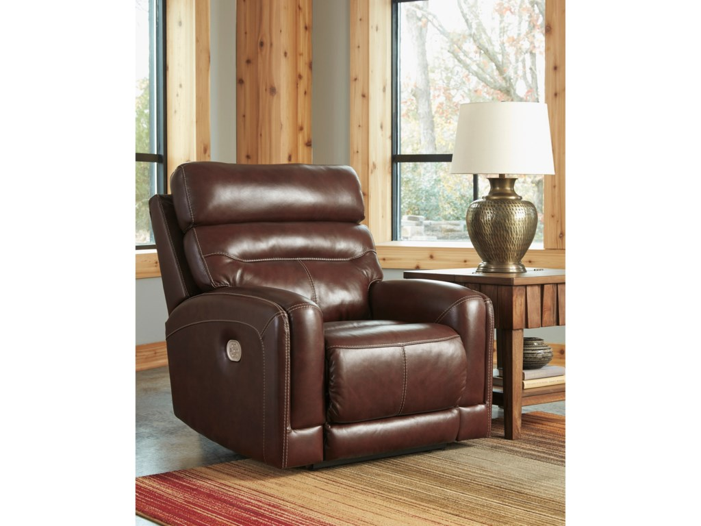 Ashley (Signature Design) SessomPower Recliner with Adjustable Headrest
