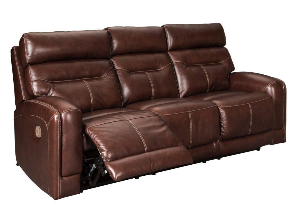 Signature Design by Ashley SessomPower Reclining Sofa w/ Adjustable Headrests