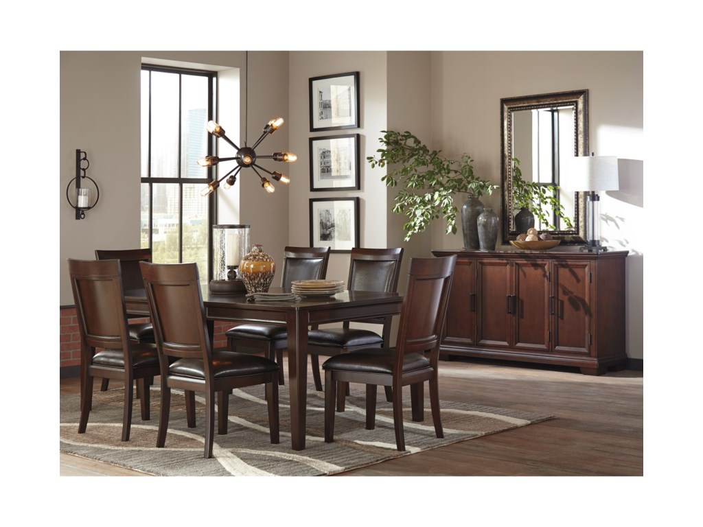Shadyn D471 35 Rectangular Dining Room Extension Table By Signature Design Ashley