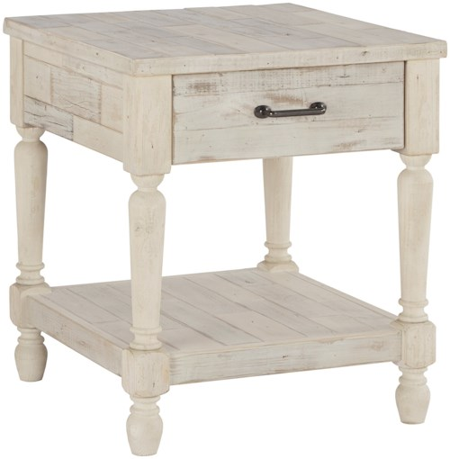 Signature Design by Ashley Shawnalore Relaxed Vintage Rectangular End Table