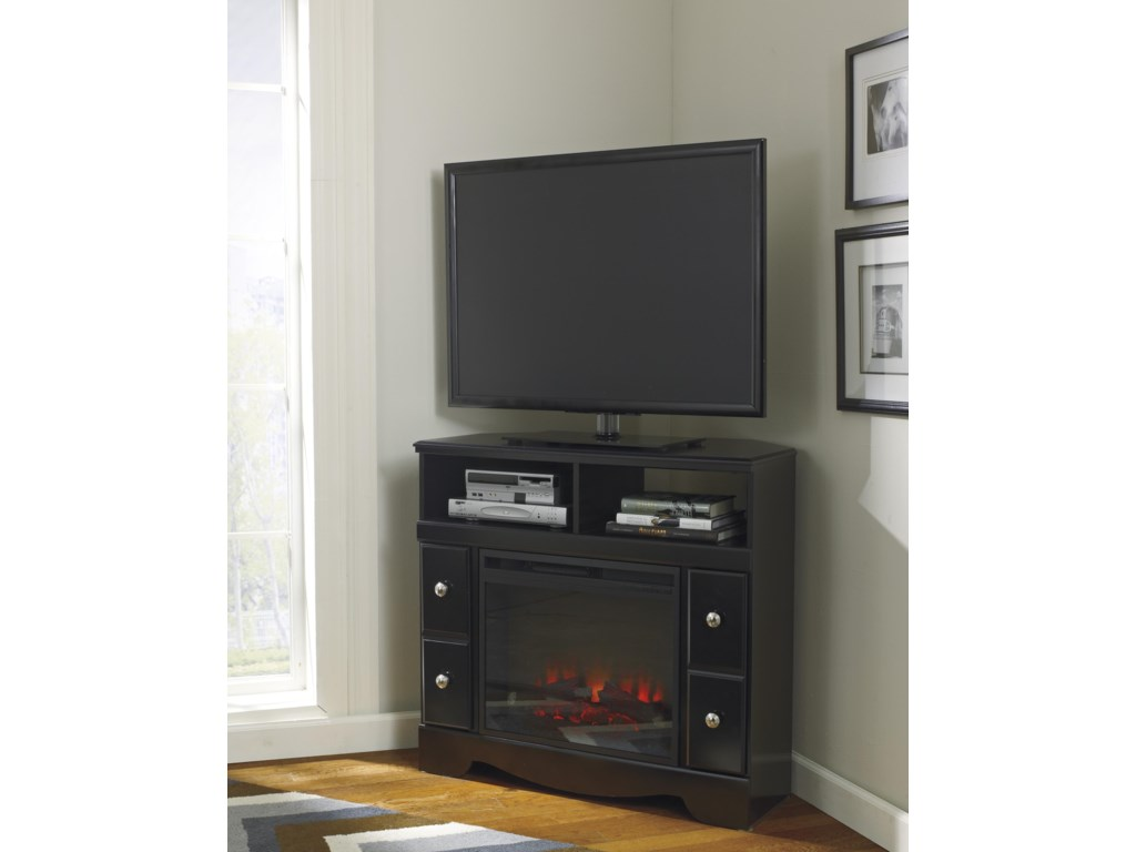 Signature Design by Ashley ShayCorner TV Stand/Fireplace