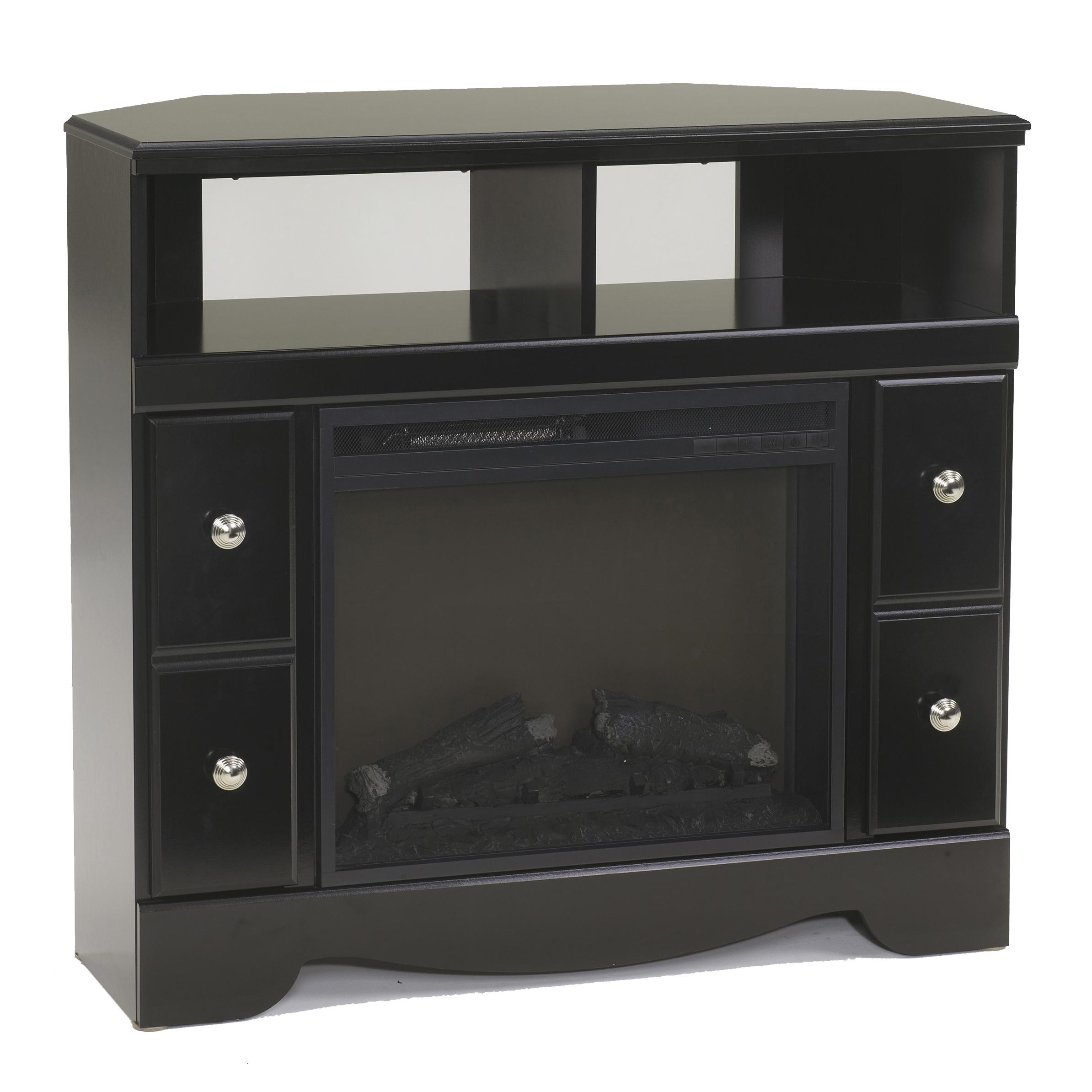 signature design by ashley shay contemporary corner tv stand with rh royalfurniture com corner tv console with fireplace for 55'' tv corner tv console with fireplace for 55'' tv