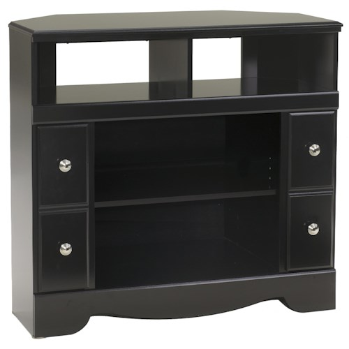 Signature Design by Ashley Shay Contemporary Corner TV Stand