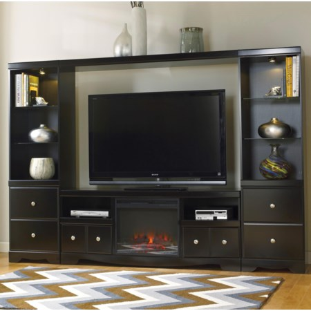 Entertainment Wall Unit w/ Fireplace
