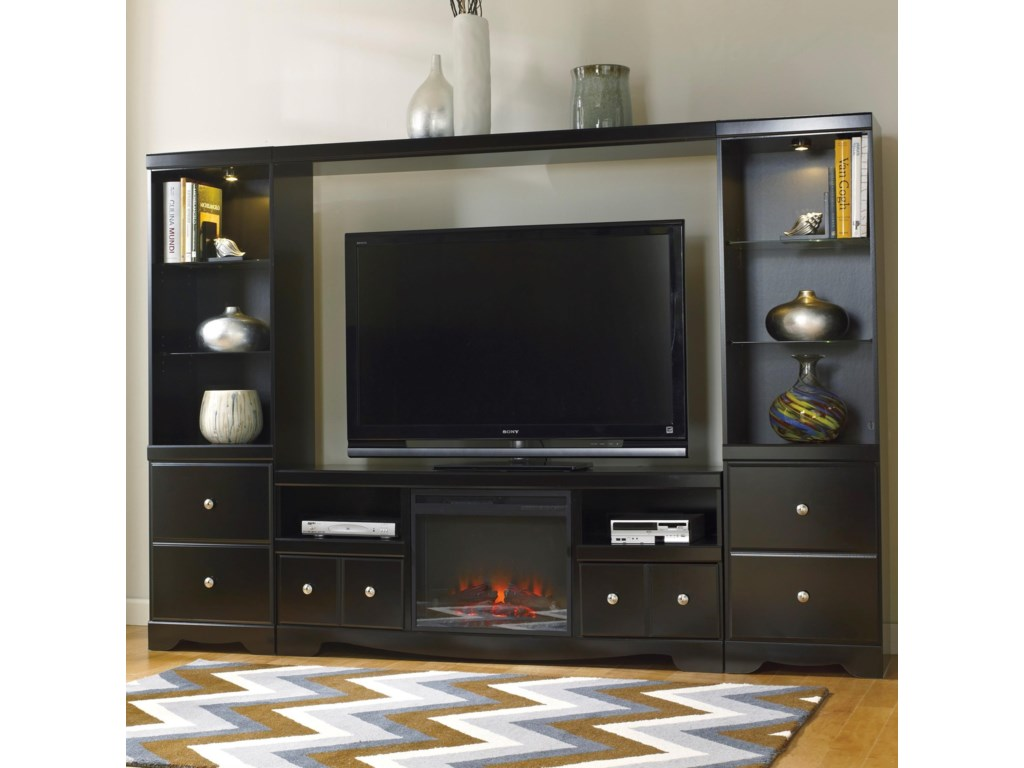 Signature Design by Ashley ShayEntertainment Wall Unit w/ Fireplace