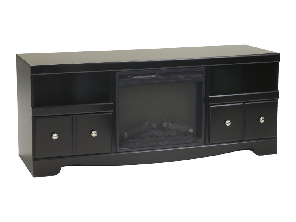 Signature Design by Ashley ShayLarge TV Stand with Fireplace