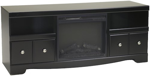 Signature Design by Ashley Shay Large Contemporary TV Stand with Fireplace