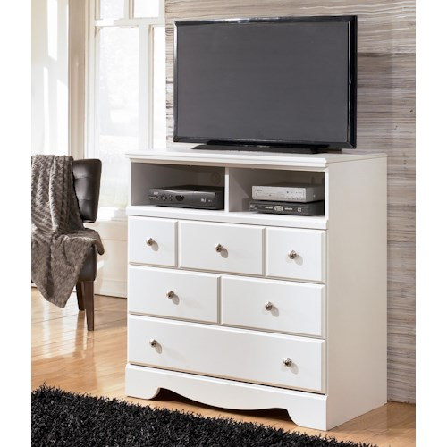 Signature Design by Ashley Weeki Contemporary 3 Drawer Media Chest