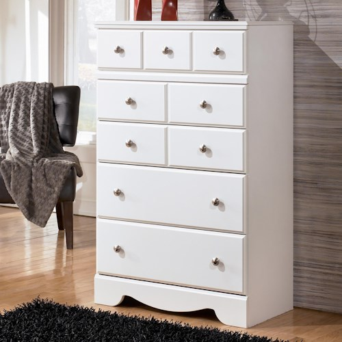Signature Design by Ashley Weeki Contemporary 5 Drawer Chest