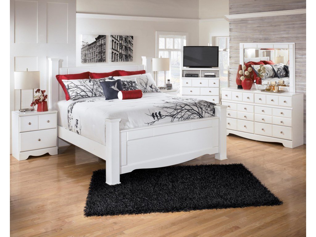 Shown with Nightstand, Media Chest, Dresser, and Mirror