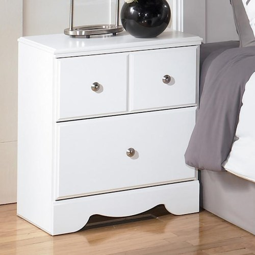 Signature Design by Ashley Weeki Contemporary 2 Drawer Night Stand