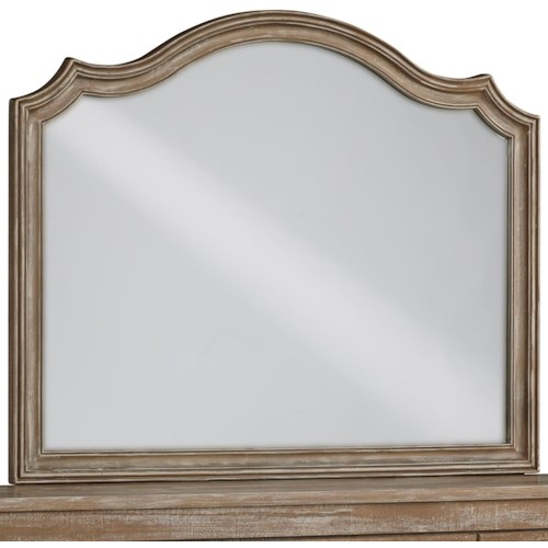Signature Design by Ashley Shellington Bedroom Mirror with Crown Detailing