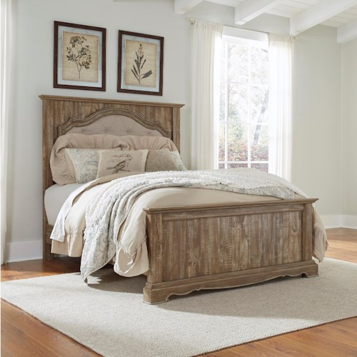 Signature Design by Ashley Shellington Queen Panel Bed with Upholstered Headboard