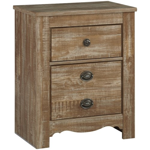 Signature Design by Ashley Shellington Relaxed Vintage 2 Drawer Nightstand