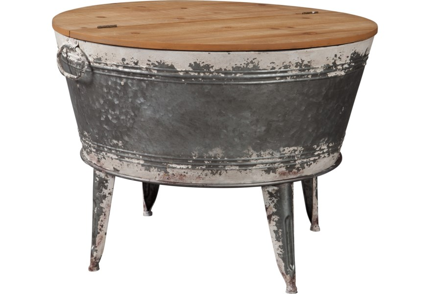 Ashley Signature Design Shellmond Modern Rustic Storage Accent Cocktail Table With Lift Top Rooms And Rest Cocktail Coffee Tables