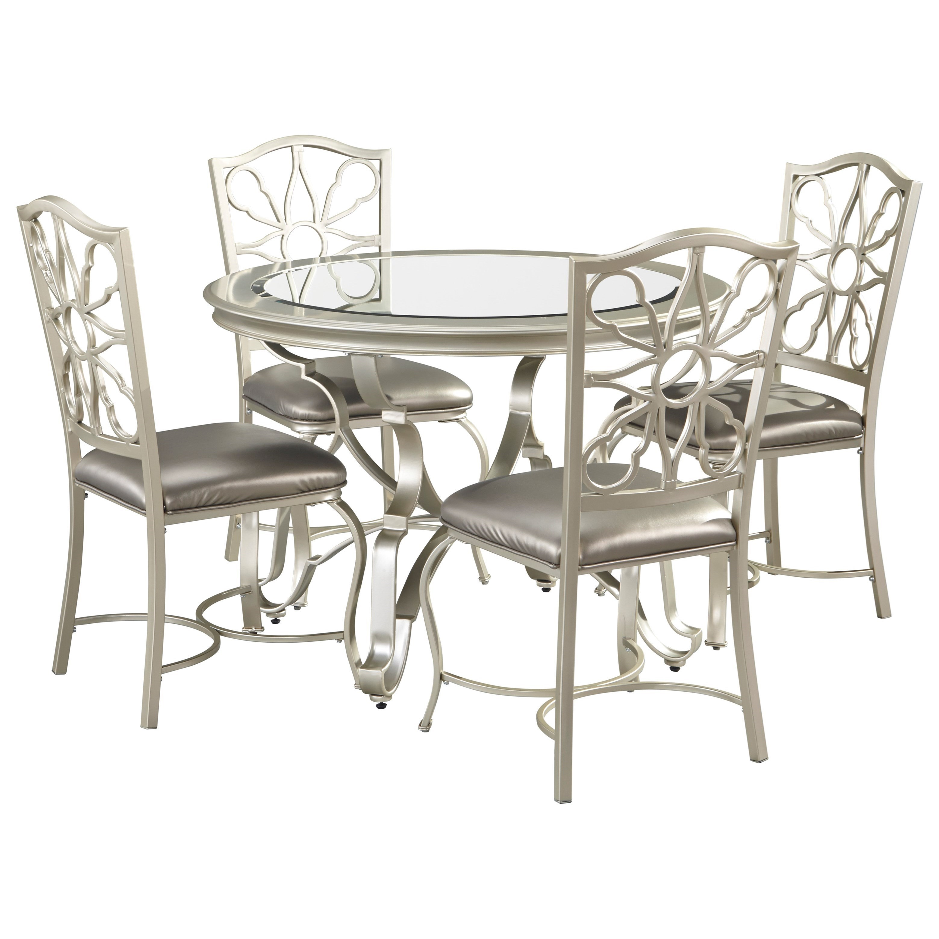 Signature Design by Ashley Shollyn5-Piece Dining Table Set ...  sc 1 st  Furniture and ApplianceMart & Signature Design by Ashley Shollyn 5-Piece Dining Table Set in ...