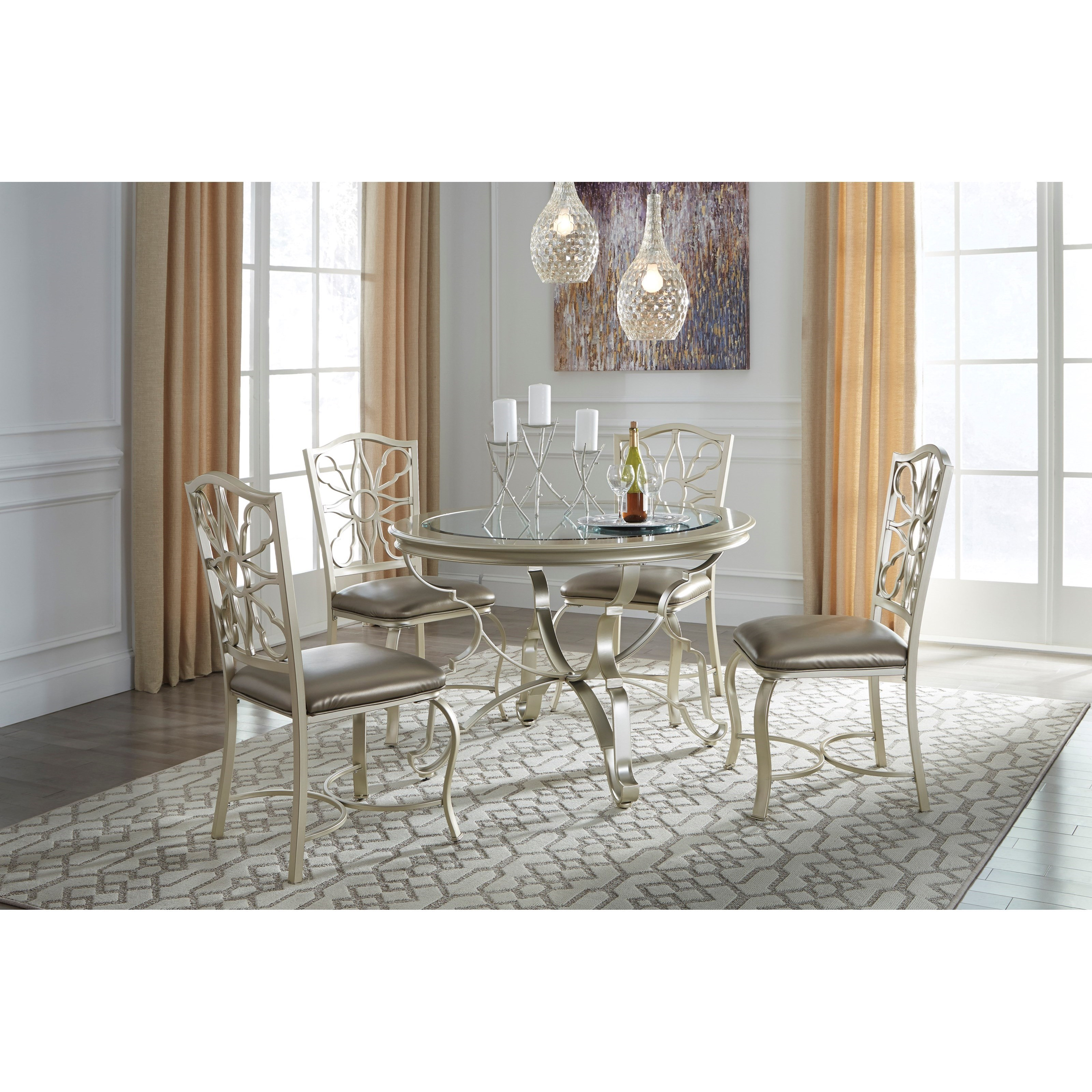 ... Signature Design By Ashley Shollyn5 Piece Dining Table Set ...