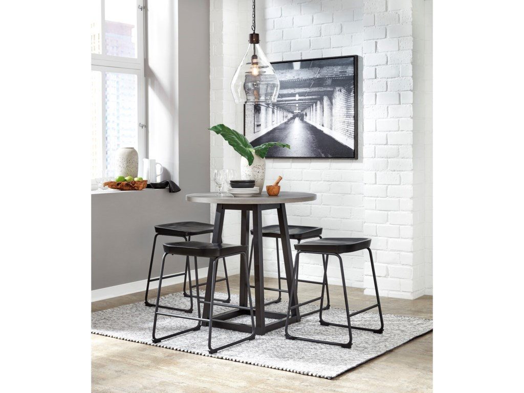Signature Design by Ashley Showdell5-Piece Counter Height Dining Table Set