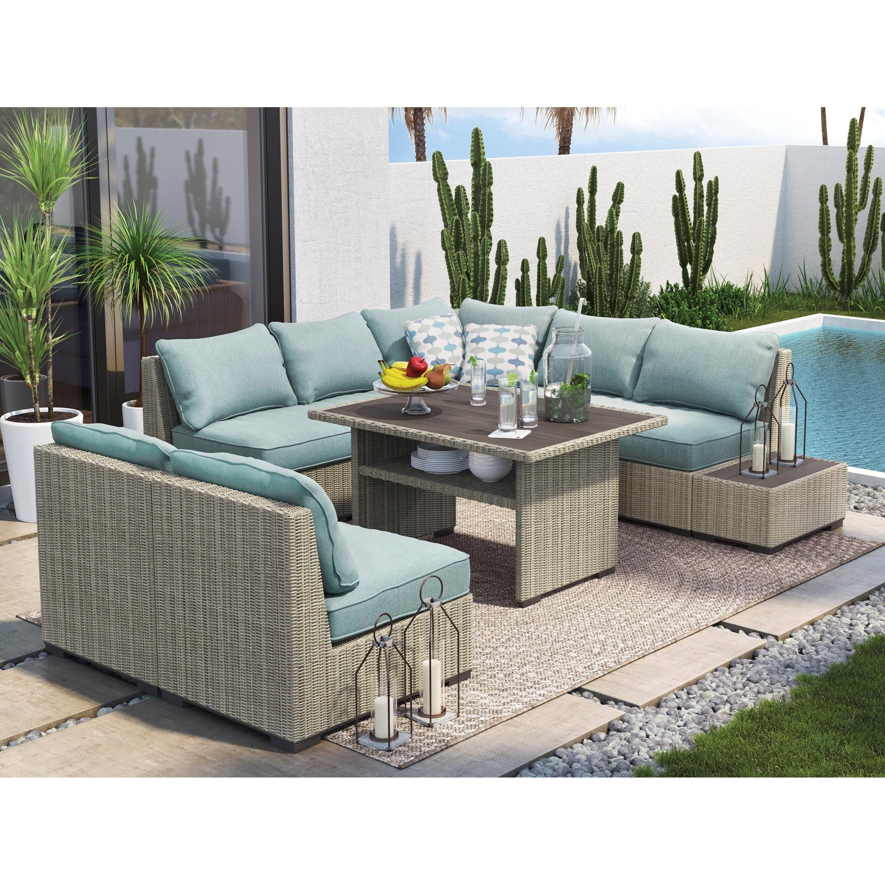 Ordinaire Signature Design By Ashley Silent Brook Outdoor Conversation Set